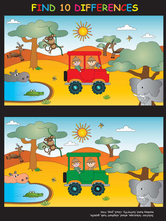 game for children: find ten differences