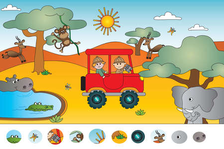 game for children: visual game Imagens
