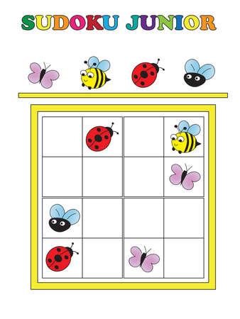 game for children: sudoku game junior Stok Fotoğraf