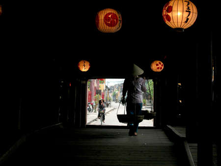 hoi an:  Japanese bridge in Hoi An (Vietnam)