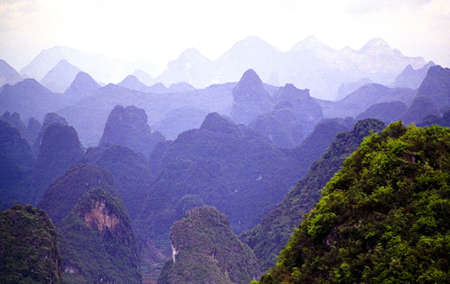 guilin: Guilin mountians in south China