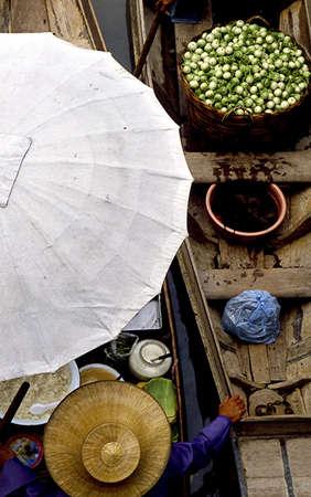 floating market near Bangkok photo