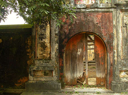 old gate of the imperial palace in Hue