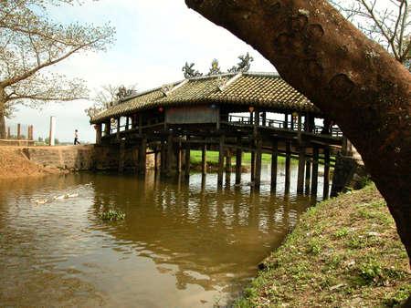 hue: old japanese bridge by Hue