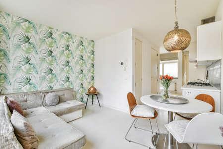 Elegant and beautiful living room interior design Foto de archivo