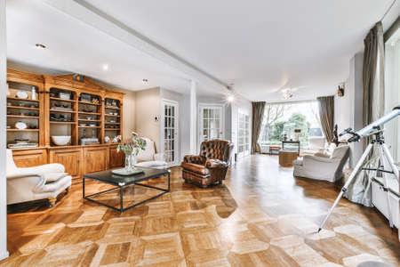 Cozy living room in a modern luxury house Foto de archivo