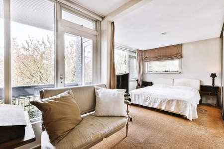 Luxury bedroom of house in beautiful design