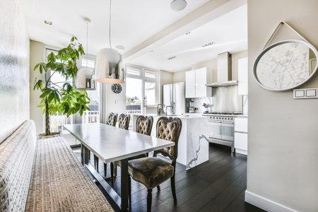 Luxury and beautiful dining room interior design Archivio Fotografico