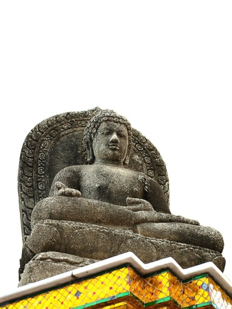 A statue of Buddha white background photo