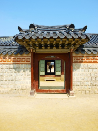 Korea tradition gate.