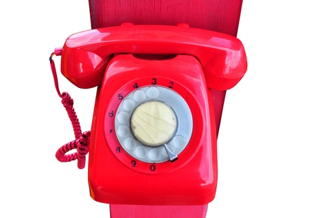 A red rotary telephone Stock Photo - 19638716