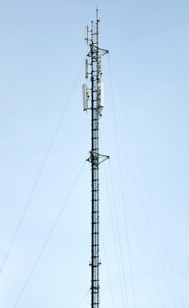 Cell tower and radio antenna photo