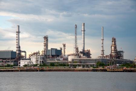 water tank: Oil refinery factory at  Bangkok Thailand
