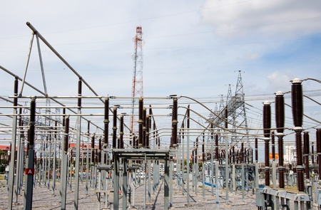Power station for making Electricity. photo