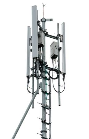 Cell tower and radio antenna. Archivio Fotografico