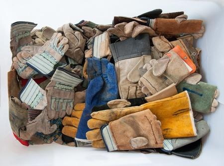 work gloves in white box Banco de Imagens - 21831807