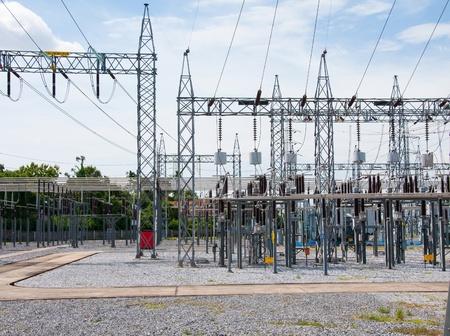 電気を作るための発電所。