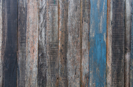 wooden planks texture with cracked color paint for background photo