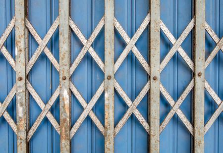 blue iron gate  photo