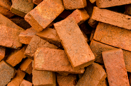 group of red bricks on construction site. Stock Photo - 22913115