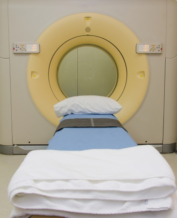 Sophisticated MRI Scanner at hospital. photo
