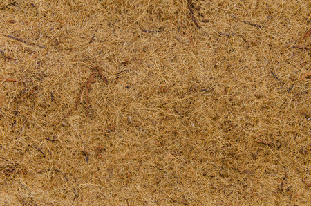 Mat made of coconut fiber for background. photo