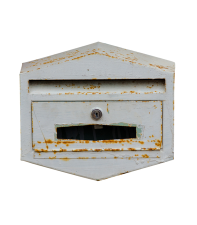Mailbox at home on white background. photo