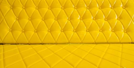 yellow sofa upholstery leather pattern . Stock Photo - 25266014