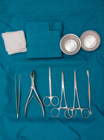 Surgeon and Surgical instruments in operation. photo