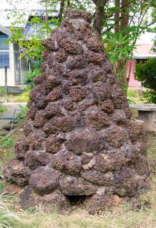 dwelling mound: Anthill or Termite mound in garden. Stock Photo