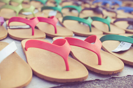 flip flop sandals retro style. photo
