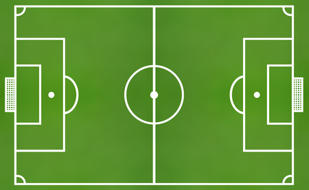 football pitch: green soccer field from top view Stock Photo