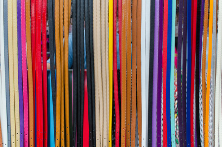 trouser: Colorful of trouser leather belt.