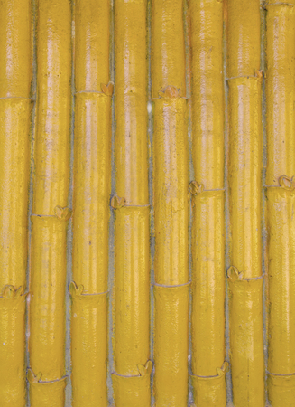 bamboo fence made from cement plaster. photo