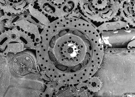 Robot Mechanical ratchets bolts and nuts photo