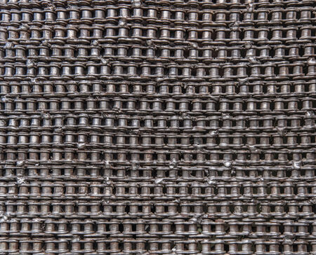 ancient blacksmith: Bicycle chain texture for background. Stock Photo