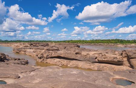 Grand Canyon amazing of rock in Mekong river, Ubonratchathani Thailand photo