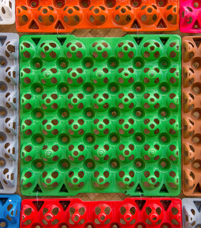 Colorful background from paper egg trays.
