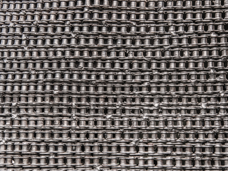 medieval blacksmith: Bicycle chain texture for background. Stock Photo