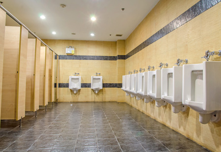 public men toilet room. Stock Photo