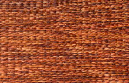 rattan mat: mat handcraft rattan weave texture for background. Stock Photo