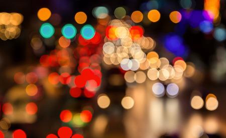 vida social: abstact blur de mermelada de Tr�fico de la tarde en la carretera en la ciudad.