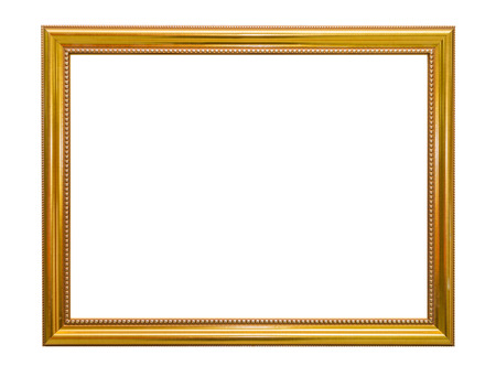 golden frame: Gold frame Elegant vintage Isolated on white background.