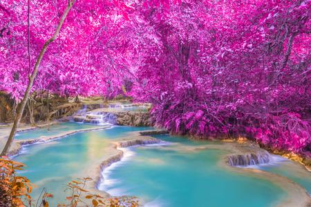 熱帯雨林 (ラオス、ルアンパバーンの Tat クァン Si 滝。) の滝 写真素材 - 39962544