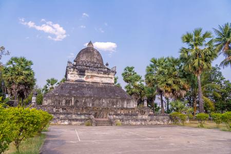 pra: Pra tat mark mo at Wat Wisunarat (Wat Visoun) Luang Prabang, Laos.