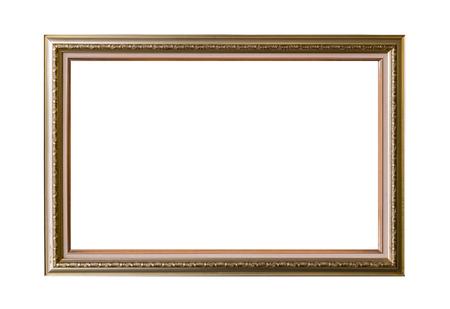 白い背景にゴールド フレームのエレガントなヴィンテージの分離されました。 写真素材 - 41386568