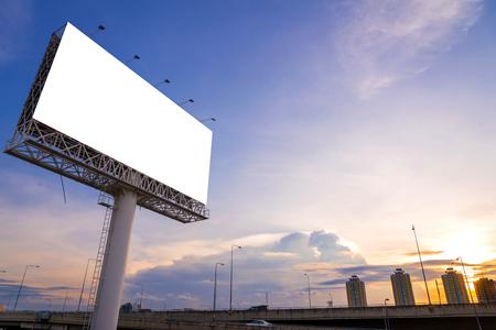 large Blank billboard ready for new advertisement. Archivio Fotografico