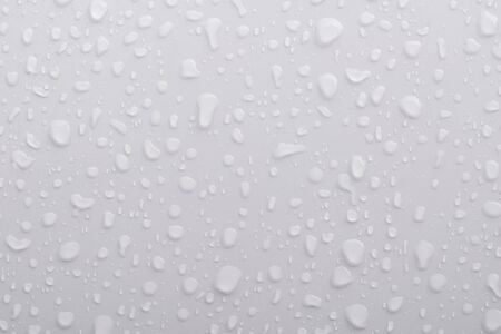 h20: water drops on white background.