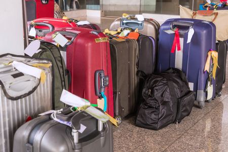 rucksacks: Luggage consisting of large suitcases rucksacks and travel bag.