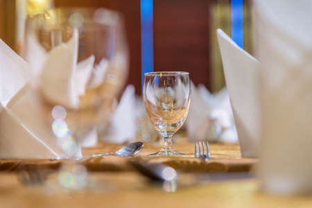set up: table set up for dinning room. Stock Photo